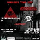 23. 9. 2017, sobota, DARK DAYS TOUR – In the Name of God [PL], Deathinition [PL], Social Error, DeadKillers