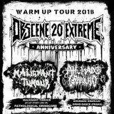 11. 5. 2018, pátek, OBSCENE EXTREME 20 WARM UP TOUR!