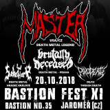 20. 10. 2018, sobota, Bastion Fest XI – Master (USA/CZ)